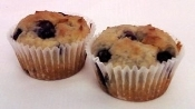 Fresh Baked Low Carb Blueberry Muffins - 2 Pack