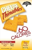 Fiber Gourmet Thinables Cheddar Crackers - Single Bag