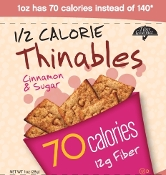 Fiber Gourmet Thinables Crackers - Cinnamon Sugar - Single Bag