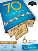 Fiber Gourmet Half Calorie Crackers - Everything Flavor