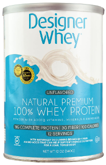 Designer Whey Natural 100% Whey Protein - Unflavored 12 oz