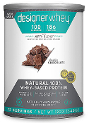 Designer Whey Natural 100% Whey Protein - Double Chocolate 12 oz