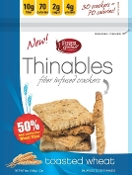 Fiber Gourmet Thinables Crackers - Toasted Wheat