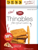 Fiber Gourmet Thinables Crackers - Pizza Flavor