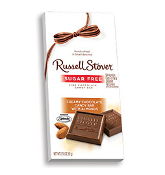 Russell Stover Sugar Free Milk Chocolate Candy Bar with Almonds