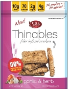 Fiber Gourmet Thinables Crackers - Garlic & Herb