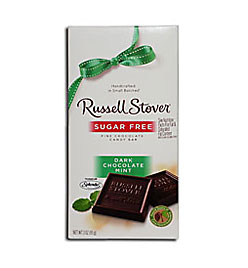 Russell Stover Sugar Free Dark MINT Chocolate Bar