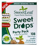 SweetLeaf Drops Party Pack, Peppermint, Coconut, Cinnamon