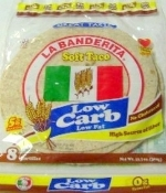 LaBanderita Low Carb Soft Taco Shell Tortilla