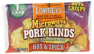 Lowrey's Microwavable Pork Rinds Spicy Flavor