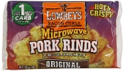 Lowrey's Microwavable Pork Rinds Original Flavor