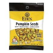 Eden Pumpkin Seeds, Dry Roasted & Salted, Organic, Pocket Snacks