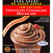 Sans Sucre Chocolate Cheesecake Mousse Mix